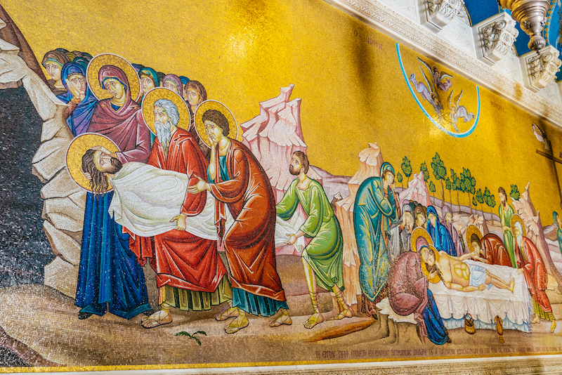 Mosaici della Crocefissione - Santo Sepolcro Gerusalemme