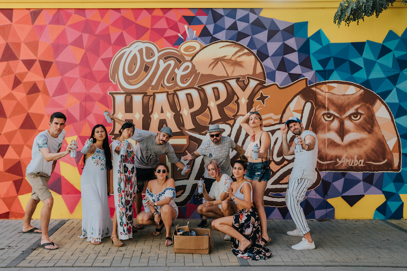 Aruba iCamp 2018 Street Art Sint Nicolaas Aruba Team