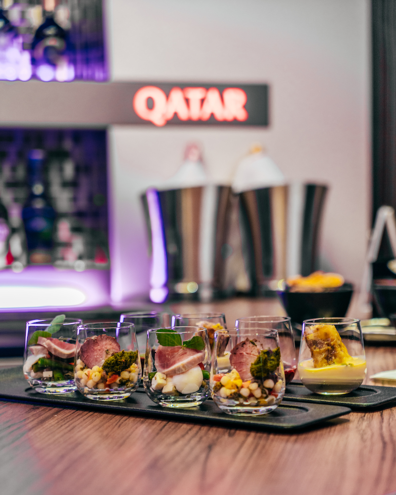 Qatar Airways Business Class Lounge Bar